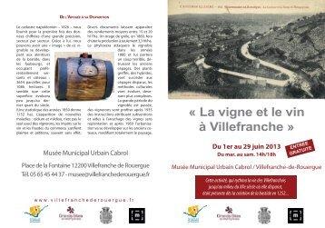 « La vigne et le vin à Villefranche » - Villefranche-de-Rouergue