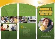 Folder Mobile Betreuung und Hilfe Region Vöcklabruck - assista