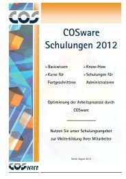 COSware Schulungsprogramm 2012 - COS GmbH