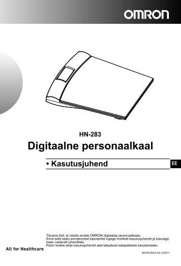 HN-283 Digitaalne personaalkaal - Omron Healthcare
