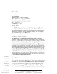 Public Comment Letter - EO Survey - Maly Consulting LLC