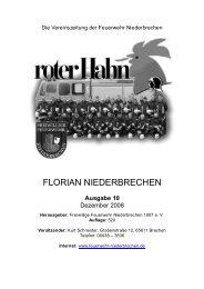 Ausgabe 10 - Freiwillige Feuerwehr Niederbrechen