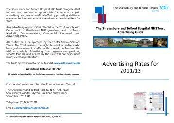 Advertising Rates for 2011/12 - Royal Shrewsbury Hospitals NHS ...
