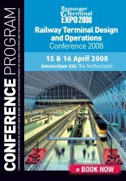 Railway Terminal Design and Operations Conference 2008