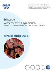 Schweizer Wissenschafts-Olympiaden Jahresbericht 2009