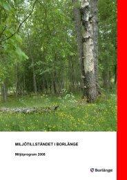 Milljötillståndet 2008.pdf - Borlänge kommun