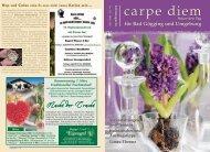 5 % Rabatt - carpe diem magazine