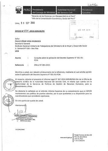 Informe Legal 267-2010-SERVIR-GG-OAJ