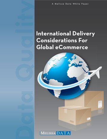 International Delivery Considerations For Global ... - Melissa Data