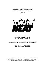 Betjeningsvejledning MCS - 2.0 - TwinHeat