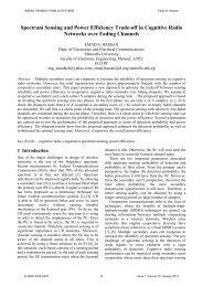 Spectrum Sensing and Power Efficiency Trade-off in ... - WSEAS