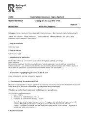 Referat fra Regionsbestyrelsesmøde den 30. august 2012