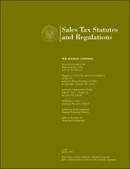Sales Tax Statutes and Regulations - Louisiana Department of ...