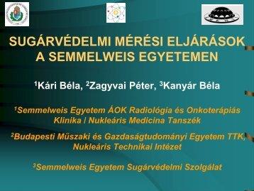 Sugárvédelmi mérési eljárások a Semmelweis egyetemen
