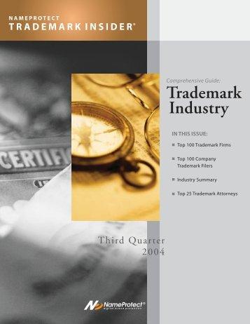 Q3 2003 NameProtect Trademark Insider - Pillsbury Winthrop Shaw ...