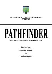 November 2009 Foundation Pathfinder - The Institute of Chartered ...