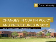 Policy Roadshow slides presented 19th July 2012 - Curtin Policies ...