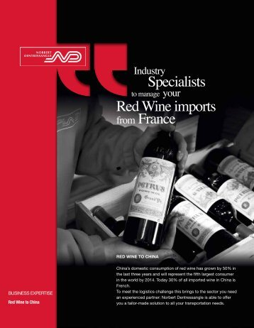 Specialists Red Wine imports from France - Norbert Dentressangle