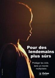Pour des lendemains plus sûrs - Oxfam France