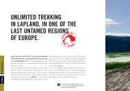 UNLIMITED TREKKING IN LAPLAND, IN ONE OF THE ... - E-biwak.pl