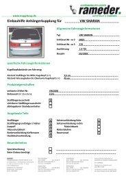 Einbauhilfe Anhängerkupplung für VW SHARAN