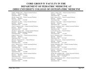 CORE Clinical FACULTY DATABASE 2