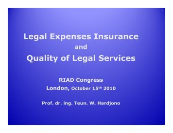 slides - International Association of Legal Expenses Insurance