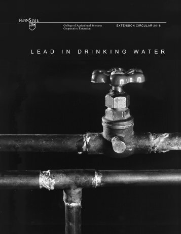 Lead in Drinking Water - Agricultural Analytical Services Laboratory