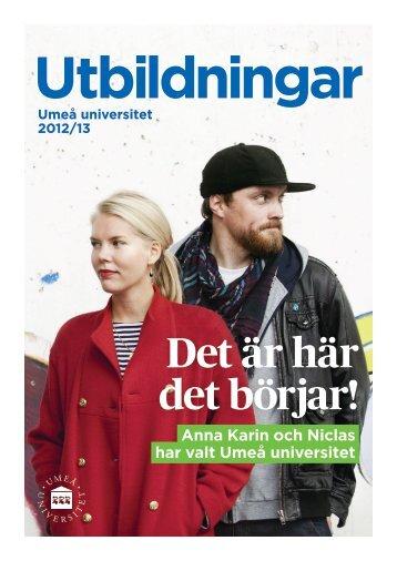 Utbildningskatalog 2012/13 - Umeå universitet