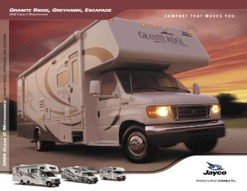 Granite Ridge, Greyhawk and Escapade - Jayco