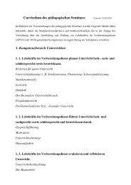 Terminplanung der pädagogischen Seminare