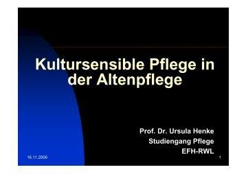 Was ist kultursensible Pflege?