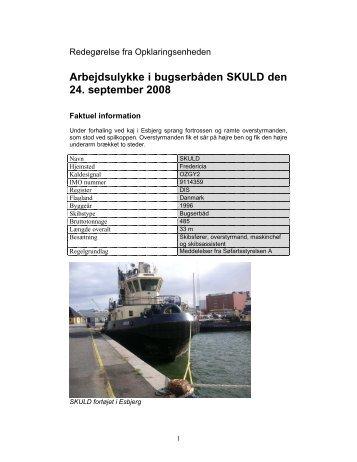 SKULD redegørelse - Søfartsstyrelsen