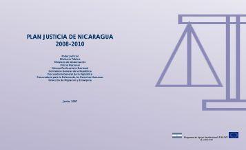 PLAN JUSTICIA DE NICARAGUA 2008-2010 - Poder Judicial