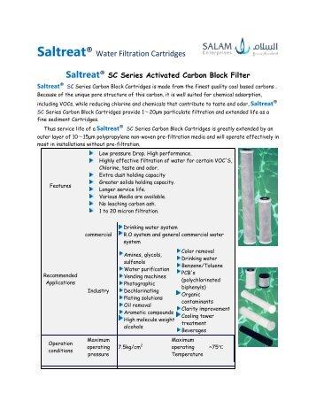 Saltreat® Water Filtration Cartridges - SALAM Enterprises
