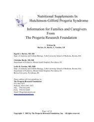 Nutritional Supplements In Hutchinson-Gilford Progeria Syndrome ...