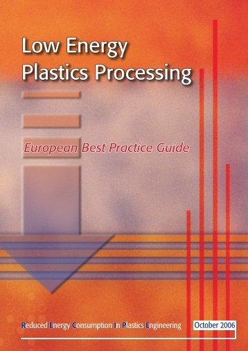Low Energy Plastics Processing - Technologies Propres