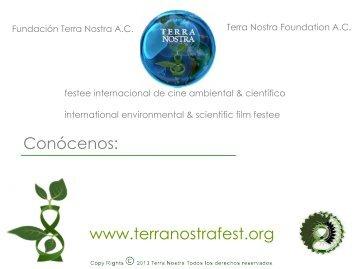Conócenos: www.terranostrafest.org