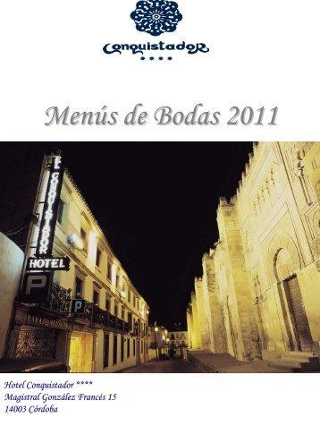 Menús de Bodas 2011