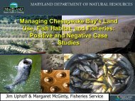 Managing Chesapeake Bay's Land Use, Fish Habitat, and Fisheries ...