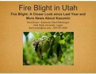 Fire Blight in Utah - Utah State Horticultural Association Homepage