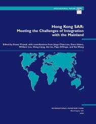 Occasional Paper 226--Hong Kong SAR: Meeting ... - Eswar Prasad