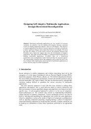 Designing Self-Adaptive Multimedia Applications ... - Daniel Hagimont