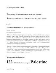 Who and Why recognize Palestine - Palestine Liberation ...