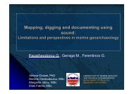 Mapping, digging and documenting using sound - The Cyprus Institute