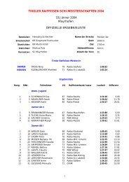 TIROLER RAIFFEISEN SCHI-MEISTERSCHAFTEN 2004 10.Jänner ...