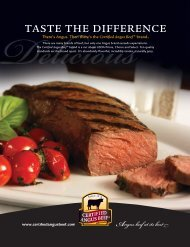 There are many brands of beef, but only one Angus brand exceeds ...