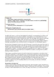 LÆRERVEJLEDNING – RÆSONNEMENT & BEVIS 1 Formålet med ...