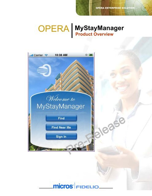 OPERA MyStayManager - Eurotel