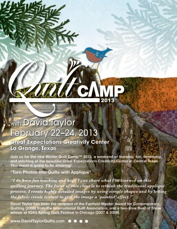 February 22–24, 2013 with David Taylor